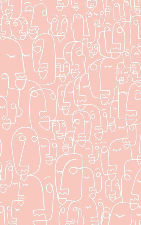 Fototapete Gesichter Altrosa Und Weiss Murals Wallpaper Fototapete Tapeten Gesicht