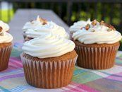 Pumpkin Cupcakes with Cream Cheese Frosting. I make my frosting from scratch. So easy. Tastes better:)
