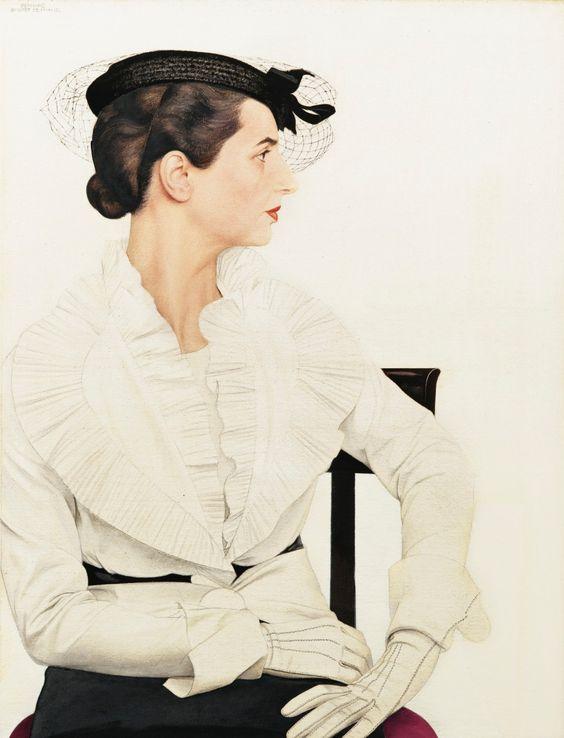 Bernard Boutet De Monvel  (1881-1949) — Delfina Boutet de Monvel Wearing an Ensemble by Pierre Piguet   (1000×1309)