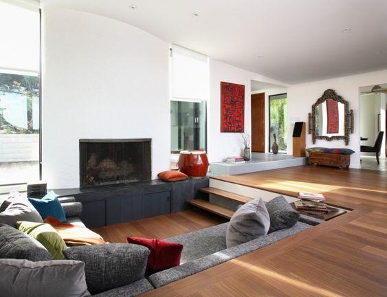 design de salon salon en contrebas pour rehausser son style - Decoration Triate Du Salon Beldi