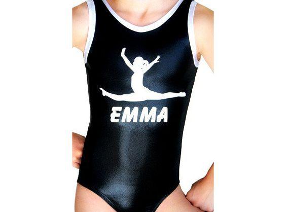 Gymnastics Leotard Girls Mystique Personalized by AEROLeotards, $36.98