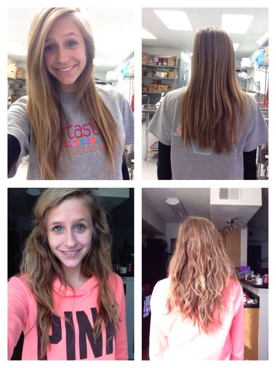 Before And After Body Wave Perm Want Slash Need