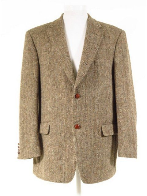 Luxury Mario Barutti Harris Tweed Jacket W Elbow Patches Leather Orb Buttons 48 Tweedmans Vi Harris Tweed Jacket Vintage Clothing Men Vintage Tweed Jacket