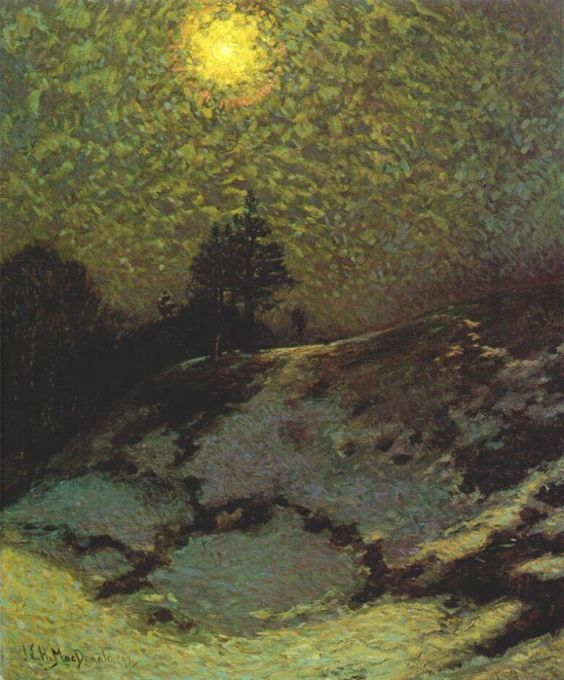 James Edward Hervey MacDonald (1873-1932): Early Evening Winter, 1912