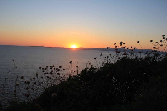 Sol poniente visto desde Badia Blava en mayo de 2015