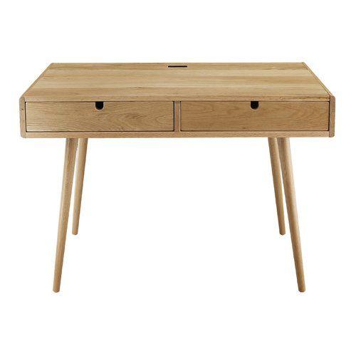 Aldrich Solid Wood Writing Desk Solid Wood Writing Desk Wood Writing Desk Oak Desk