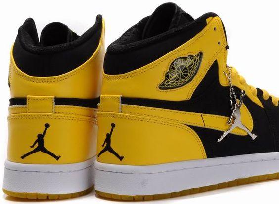 air jordan 1 black yellow