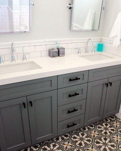 Top 70 Best Bathroom Backsplash Ideas, How Tall Should A Bathroom Vanity Backsplash Be