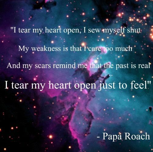 I Tear My Heart Open I Sew Myself Shut