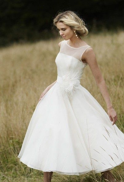 vestido novia corto boda