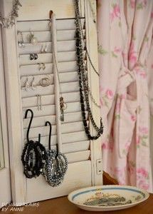 Jewelry Organizer From A Window Shutter