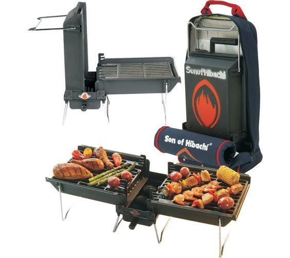 Good Son Of Hibachi Portable Barbecue Grill, Black/White | Portable Barbecue