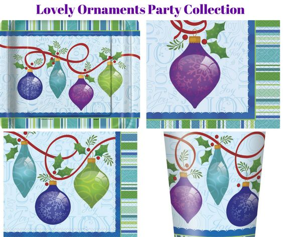 Lovely Christmas Ornaments Party Banner