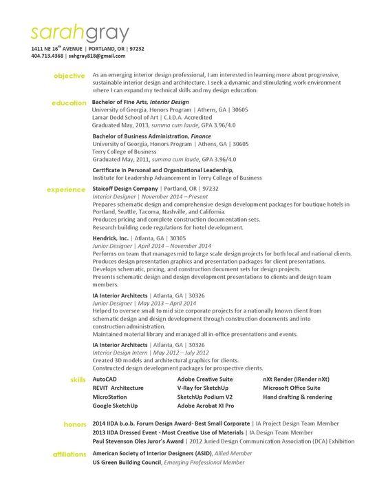 A very simple yet efficient resume design professionalisms - how to design a resume