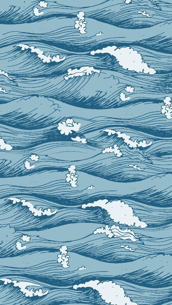 Pinterest Lexjxhn Waves Wallpaper Cute Wallpaper Backgrounds Cute Wallpapers Blue wave wallpaper vsco