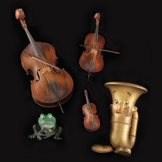 George Pal puppets   Tubby the Tuba, Frog, and instrument puppets