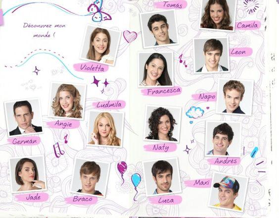 Los personajes de violetta violetta pinterest - Photo de violetta a imprimer ...