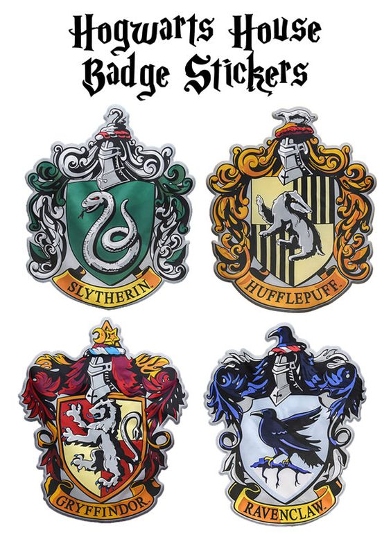 Hogwarts House Badge Stickers Harry Potter Party