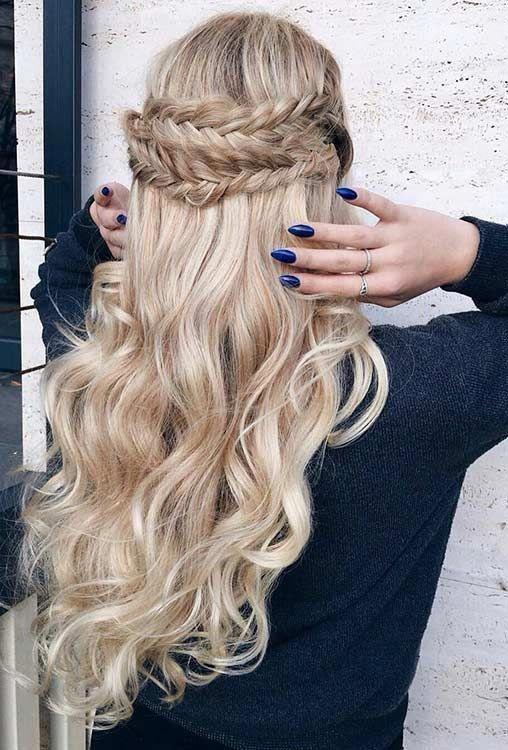 30 Beautiful Braided Half Up Half Down Hairstyles Women S Hairstyles Prom Hairstyles For Long Hair Easy Hairstyles For Long Hair Hair Styles