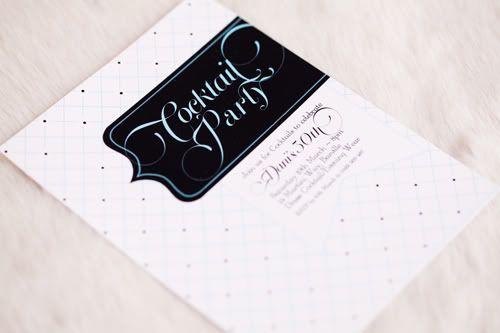Tiffany Cocktail invitation