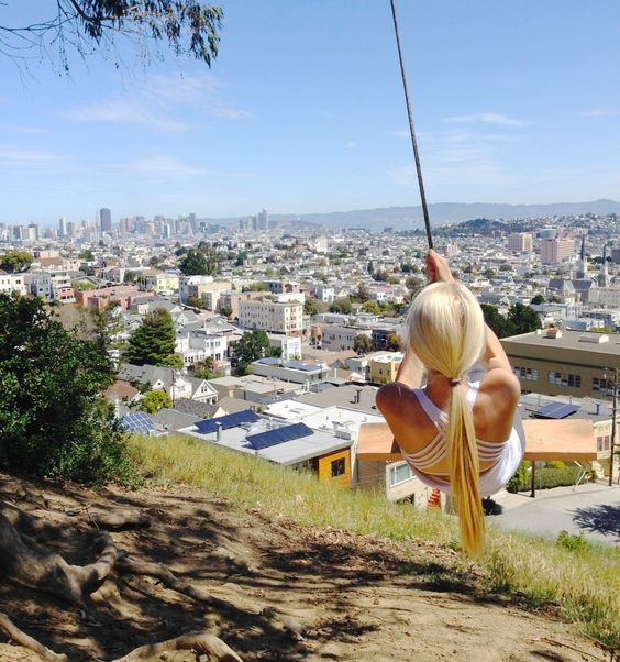 rope swing in san francisco and how to find it adobe tank san francisco