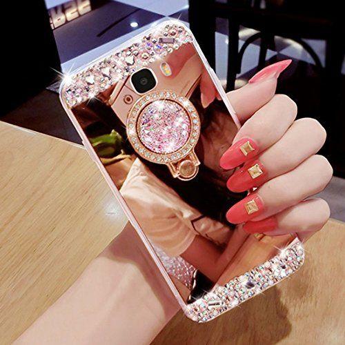 Hancda Coque pour Samsung Galaxy S9 Case Coque Miroir Glitter ...