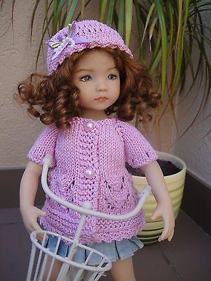 Handknitted-chaqueta-y-sombrero-de-Little-Darling-Doll-13-Pulgadas-Dianna-Effner