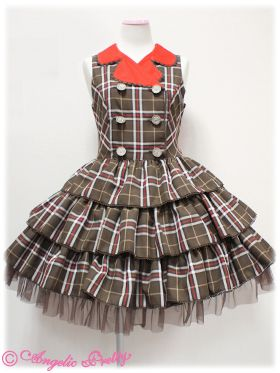 angelic pretty タータンDollジャンパースカート