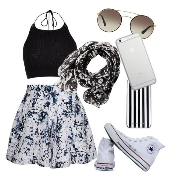 """""""The halter top"""" by bratzlover-i on Polyvore featuring River Island, Olive + Oak, Converse, MICHAEL Michael Kors, Calvin Klein, Prada and Native Union"""