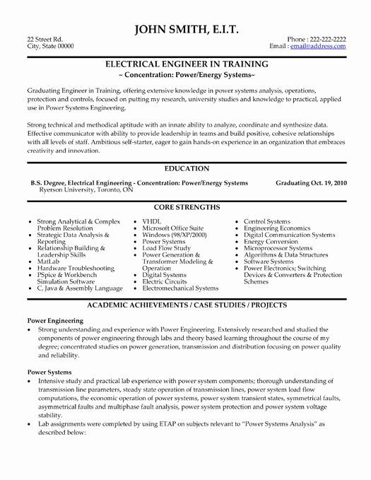 Entry Level Electrical Engineer Resume Inspirational Pin By Yolanda Thomas On Electrical Engine In 2020 Engineering Resume Templates Engineering Resume Resume Examples