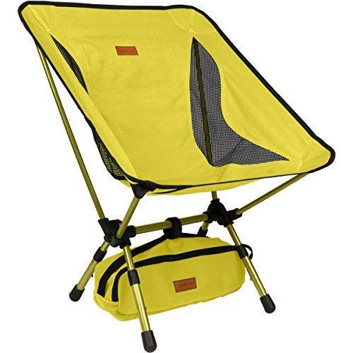 Trekology YIZI GO Chaise de Camping Portable avec Hauteur r/églable Plein air Plein air. Chaises Pliantes compactes Ultra-l/ég/ères dans Un Sac de Transport pour randonneurs Plage Camping