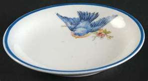 Homer Laughlin Bluebird China- The classic little bluebird.  I collect these and other antique/vintage blue bird prints.  So adorable.