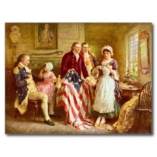 Betsy Ross 1777 Postcard