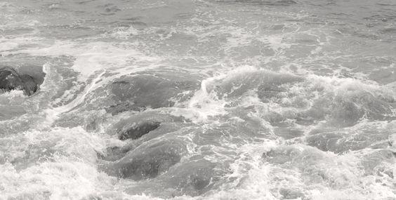 The Sea. In B & W.