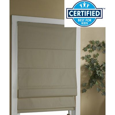 Found it at Wayfair - Cordless Thermal Backed Roman Shade with Blackout Fabric