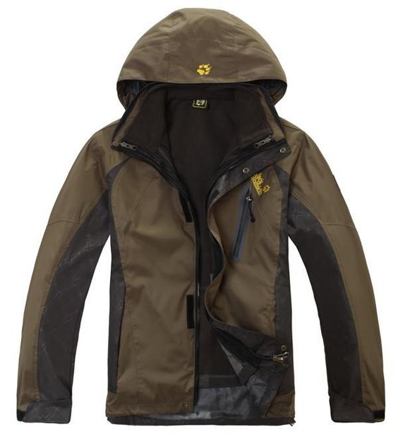 Jack Wolfskin Mens Waterproof Positron Jacket Brown for Austin | i ...