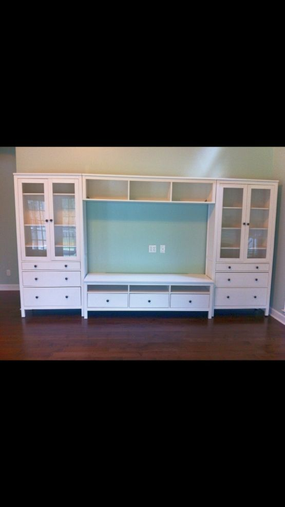 "I wish I knew where I was going to live for the next 20 years, so I could purchase this amazing entertainment center! #militarylife IKEA ""Hemnes"" entertainment center :: just love"