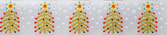 Ribbon from Renaissance Ribbons - great collection and they are all beautiful.  Christmas Tree on Silver ribbon