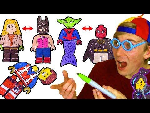 Coloring Lego Wrong Heads Matching Game Youtube Lego Coloring Pages Lego Coloring Lego Spiderman