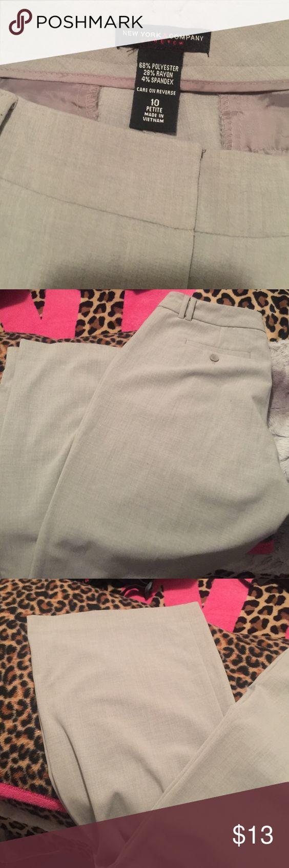 New York & Company Dress Pants Size 10 Petite New York & Company Dress Pants , Like New , Color is like a light beige / grey New York & Company Pants