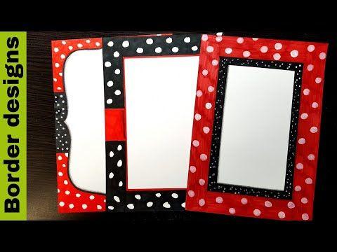 Red Black Border Designs On Paper Border Designs Project