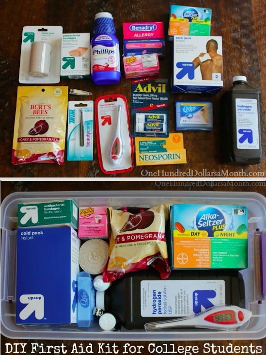This college kit to help you brave the germ-filled shitshow that is campus life. | 19 DIY Survival Kits For All The Worst Case Scenarios