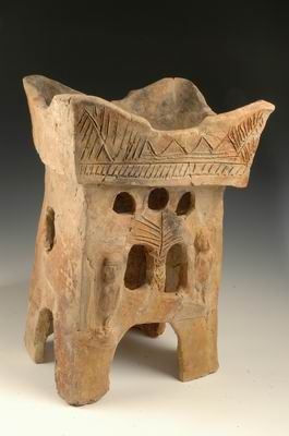 Altar Rehov Iron Age II, 10th century BCE Pottery H: 49; W: 32.7 cm Israel Antiquities Authority:
