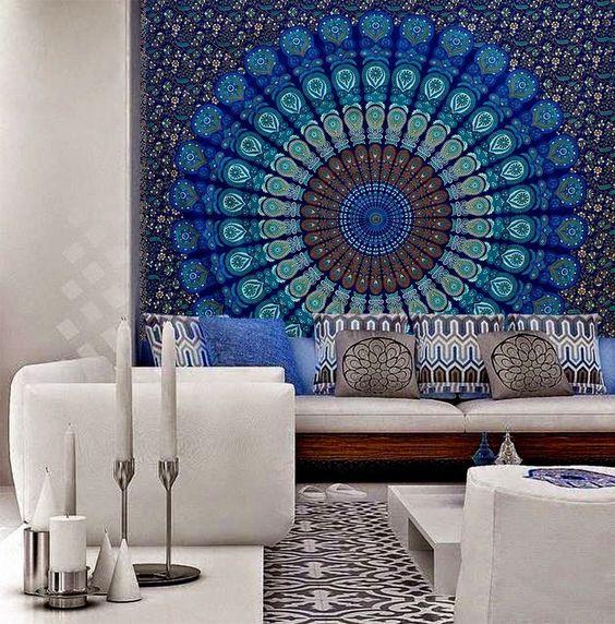 Wall Hanging Hippie Mandala Tapestry Indian Ethnic Decor Bohemian