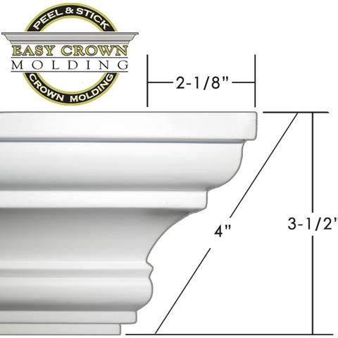 4 Easy Crown Molding 68 Kit Includes 16 Inside And 4 Outside Corners In 2020 Easy Crown Molding Diy Crown Molding Crown Molding