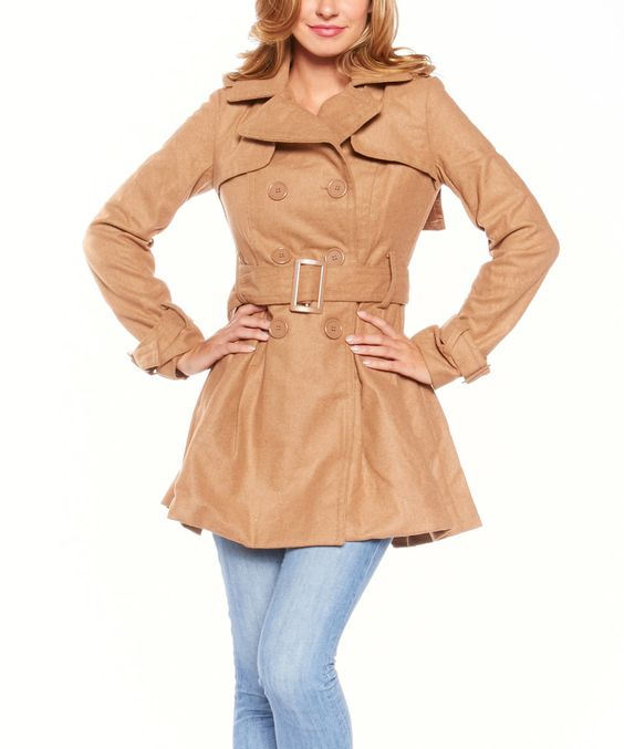 Another great find on #zulily! Camel Layered-Back Jacket by Icy Fashion #zulilyfinds