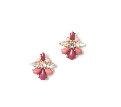 Make a statement with crystalline drop studs. http://goo.gl/UKKWiU