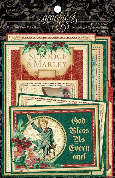 Graphic 45 - A Christmas Carol Collection - Ephemera Cards,$5.49