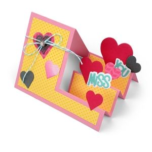 Miss You Hearts Step-Ups Card