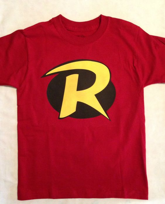 Robin T Shirt For Children And Toddler Kids Batman And